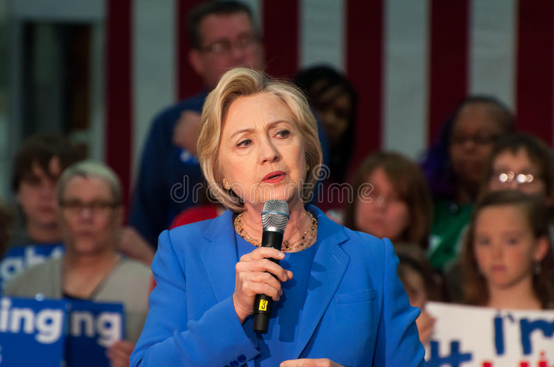 Hillary clinton, wiec obrazy stock