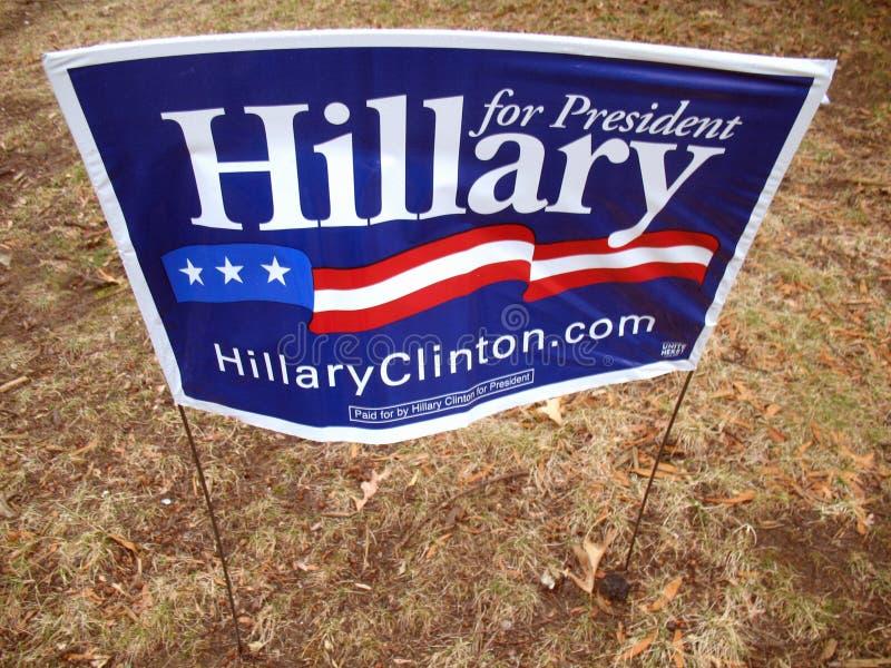Hillary para el presidente foto de archivo