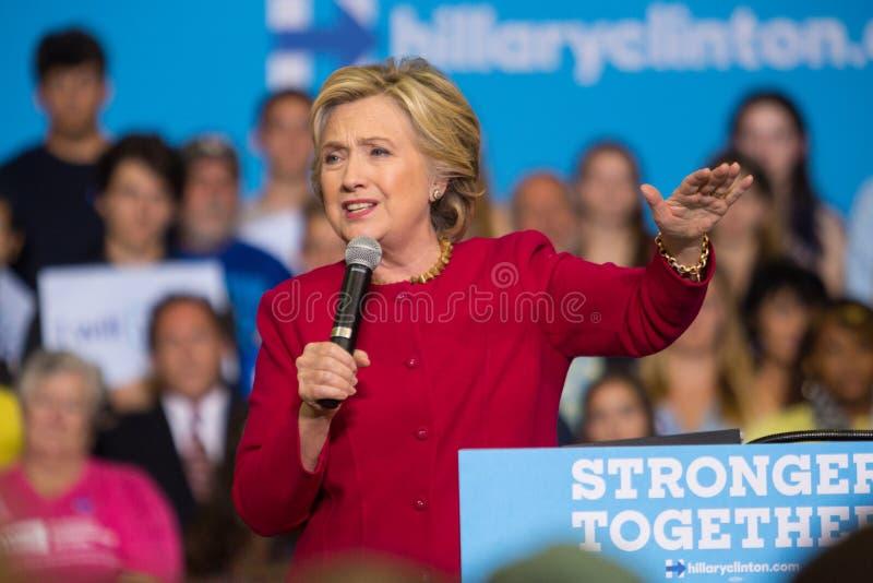 Hillary Rodham Clinton en la reunión de Harrisburg foto de archivo