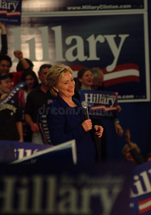 Hillary Smiles image stock