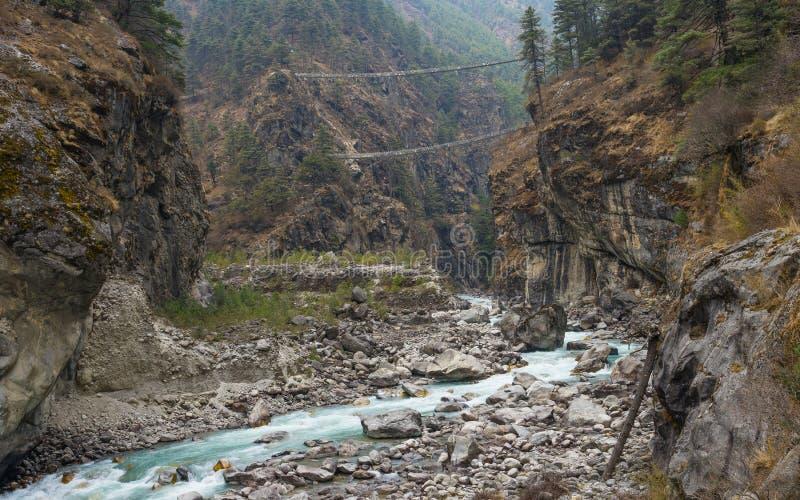 Download Hillary Suspension Bridge, Région D'Everest Image stock - Image du bazar, jour: 77151751