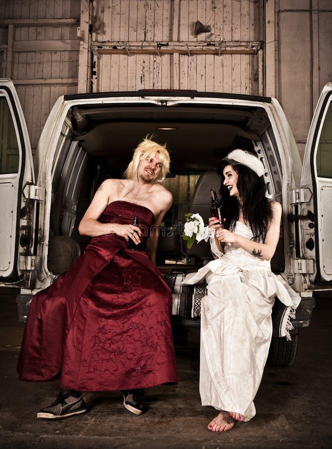 hillbilly ślub zdjęcie stock