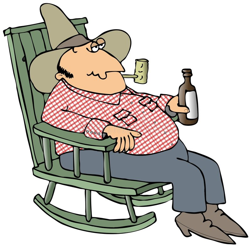 Hillbilly In A Chair royalty free illustration