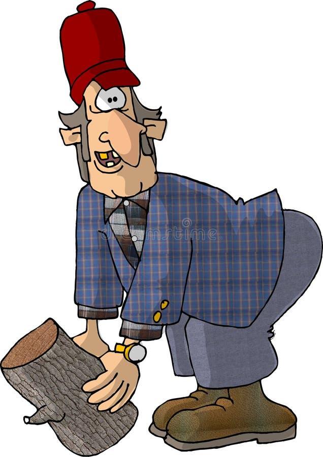 Download Hillbilly e um registro ilustração stock. Ilustração de cartoon - 50836
