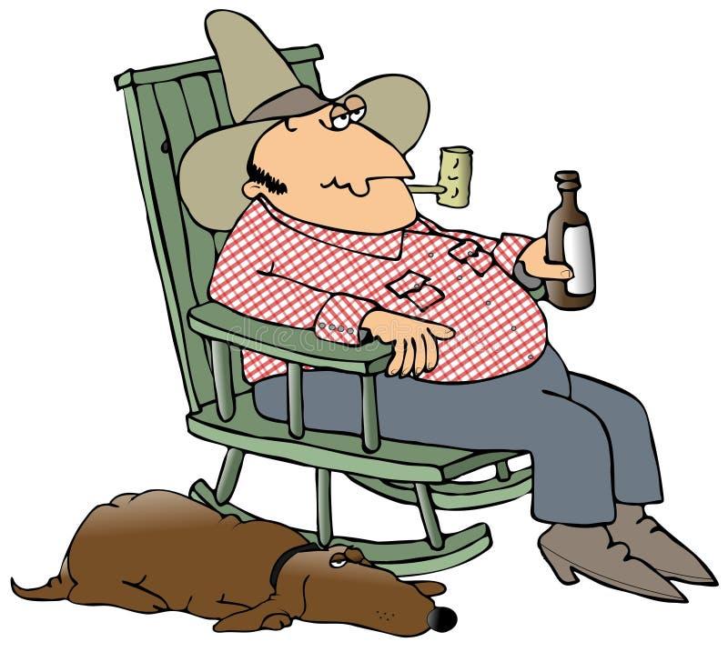 Hillbilly ed il suo cane royalty illustrazione gratis