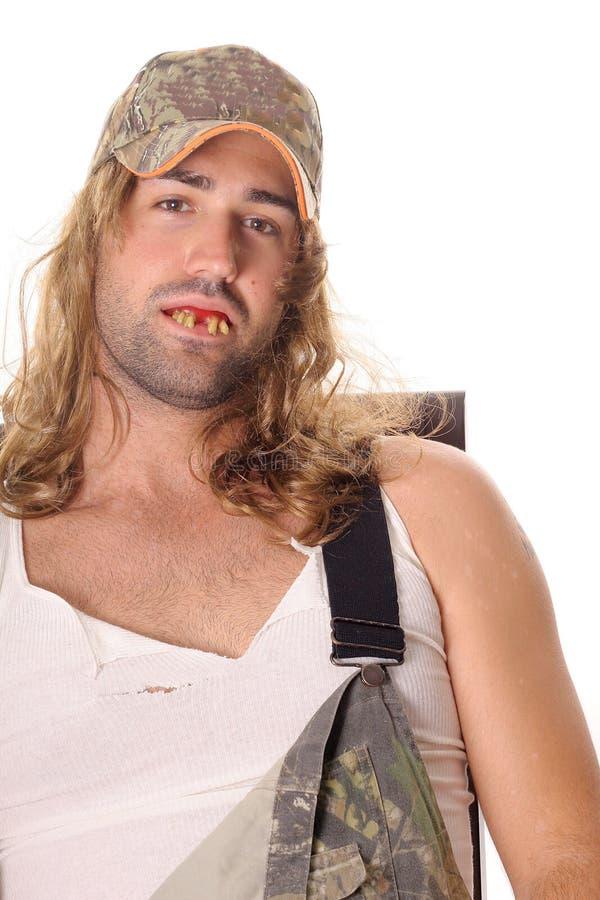 hillbilly mężczyzna wsioka whitetrash zdjęcia royalty free