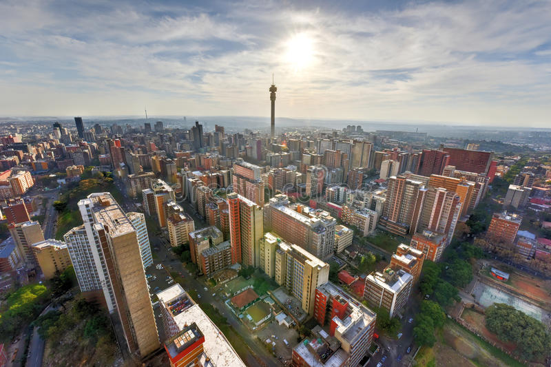 Hillbrow Tower - Johannesburg, South Africa. The Hillbrow Tower (JG Strijdom Tower) is a tall tower located in the suburb of Hillbrow in Johannesburg, South royalty free stock images