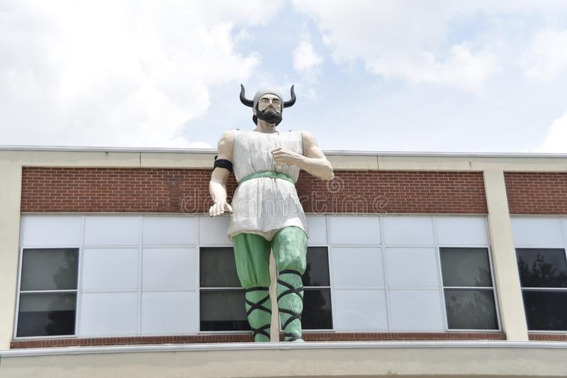 Norsemen Mascot of Hillcrest High School, Memphis, TN. Hillcrest High School offers education to the students in grades nine through 12. The school s curriculum stock photos