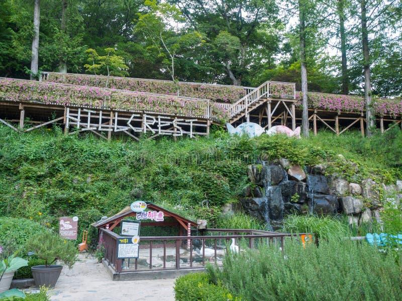 Hillcrest (Hub Hills) scene, Eco theme park in Daegu city, Korea stock photography