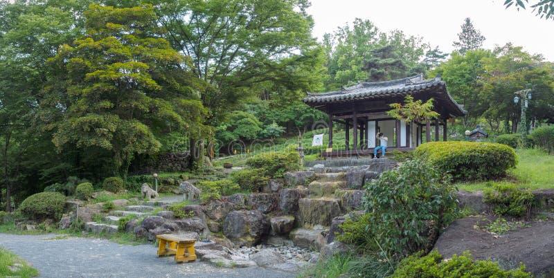 Hillcrest (Hubheuvels) scène, Eco-themapark in Daegu-stad, Korea stock fotografie