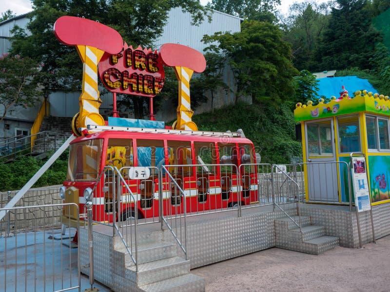 Hillcrest (Hubheuvels) scène, Eco-themapark in Daegu-stad, Korea stock foto's