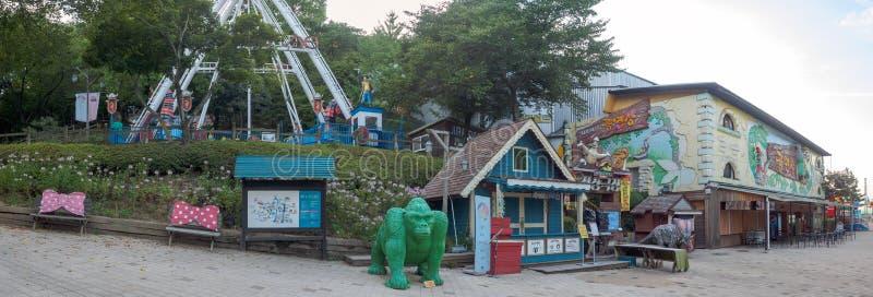 Hillcrest (navkullar) plats, Eco nöjesfält i den Daegu staden, Korea royaltyfria foton