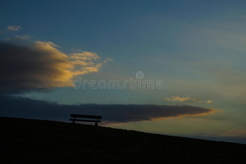 The hills of the bench of Musashino Forest Park. Shooting location :  Chofu, Tokyo stock image