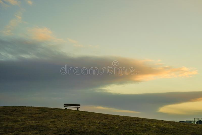 The hills of the bench of Musashino Forest Park. Shooting location :  Chofu, Tokyo royalty free stock photography