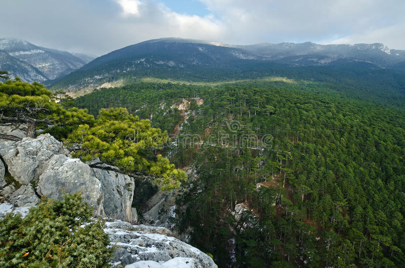 Hills in Crimea (Ukraine) stock photography