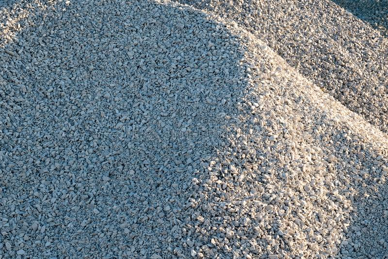 Hills of crushed stone of small fraction royalty free stock image