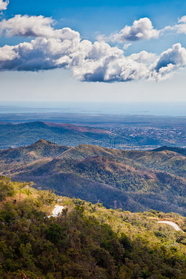 Hills of Cuba, aerial view stock photography