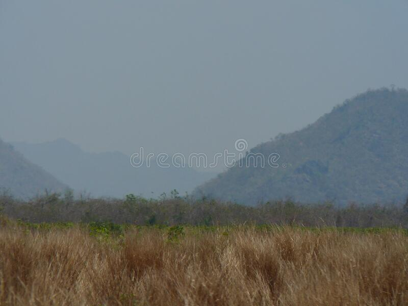 Hills of Myramar in Asia stock photos