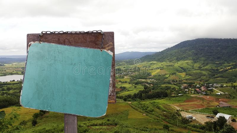 Signboard color outdoor in the city landscape stock photography