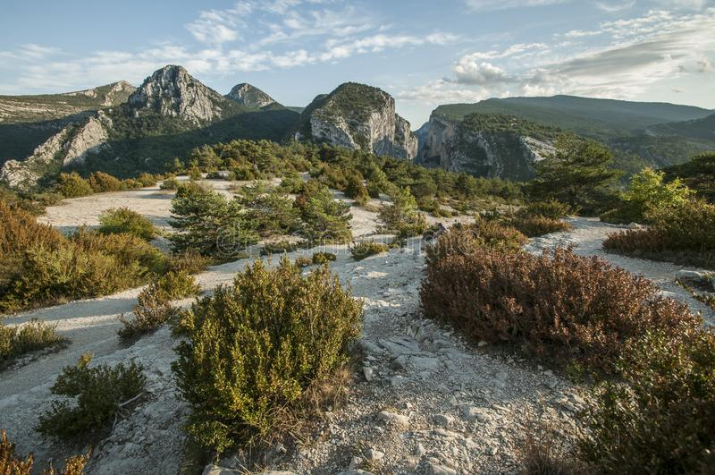 Hills in the French Riviera.  royalty free stock photos