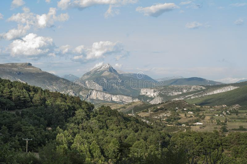 Hills in the French Riviera.  stock images