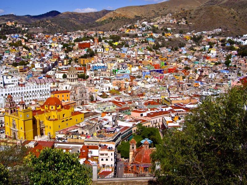 Hills of Guanajuato Mexico stock photography