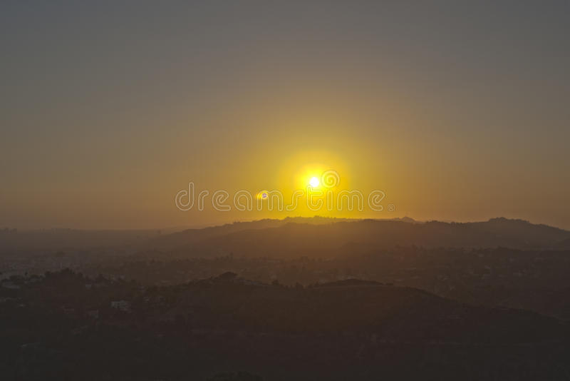 Hills of Hollywood in Los Angeles, California, united States. Horizontal Shoot stock images