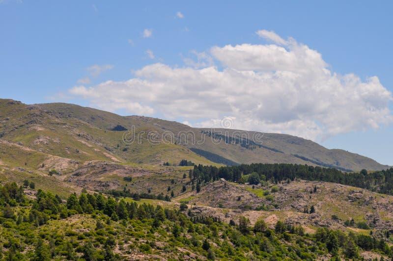 Hills Landscape in Villa General Belgrano, Cordoba stock images