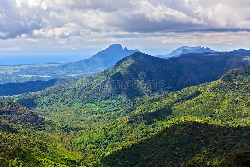 Hills of Mauritius Island, Africa royalty free stock photo