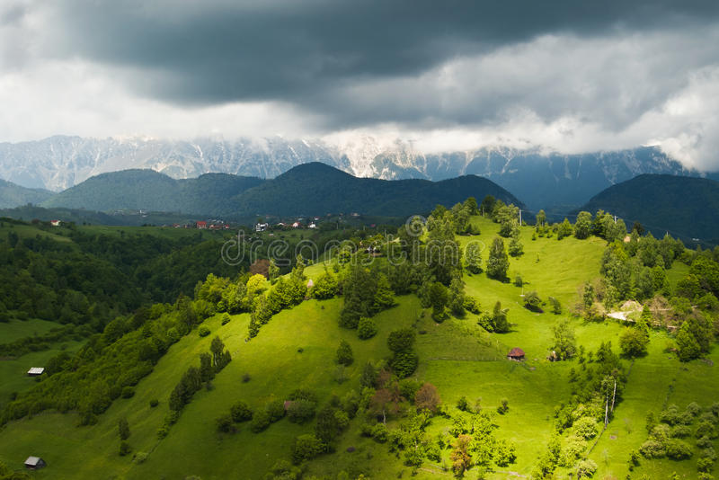 Hills and mountain scenery