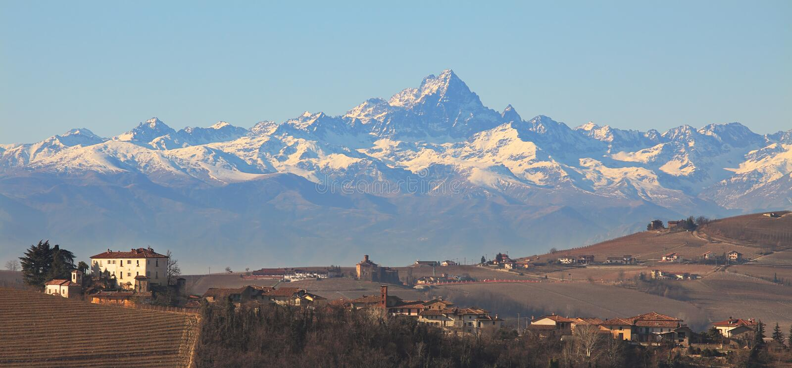 Hills And Mountains. Piedmotn, Italy. Stock Image