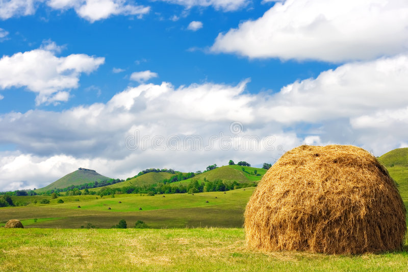 Hills nature background stock photography