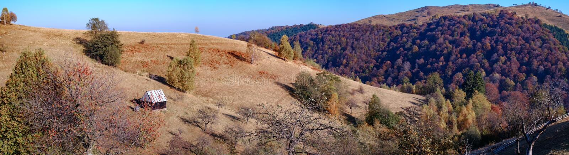 Hills under höstsäsongen arkivfoto