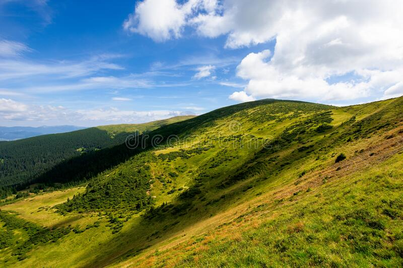 hills and valley of summer mountain landscape royalty free stock photography