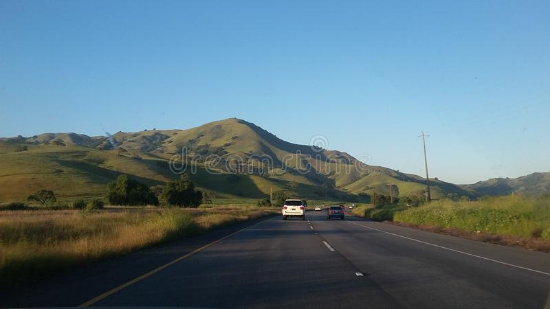 Hills on the way to Los Angeles royalty free stock images