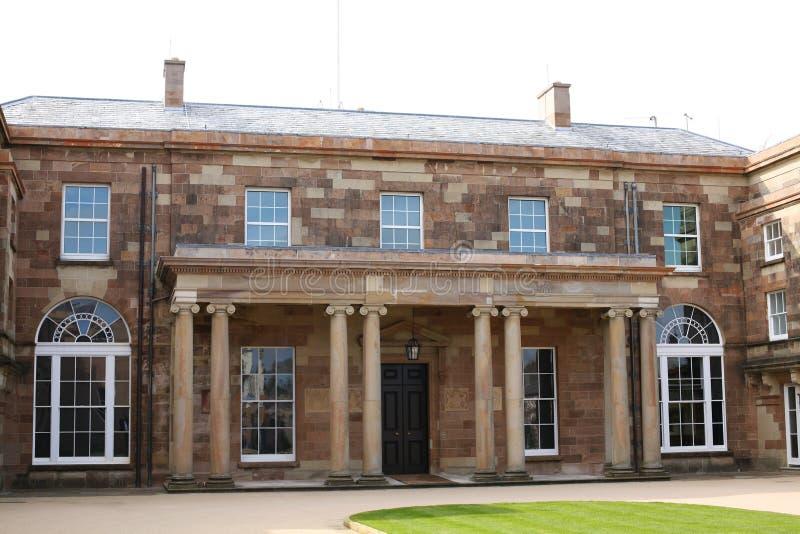Hillsborough Castle Enterance Ιστορικά βασιλικά παλάτια στοκ φωτογραφία
