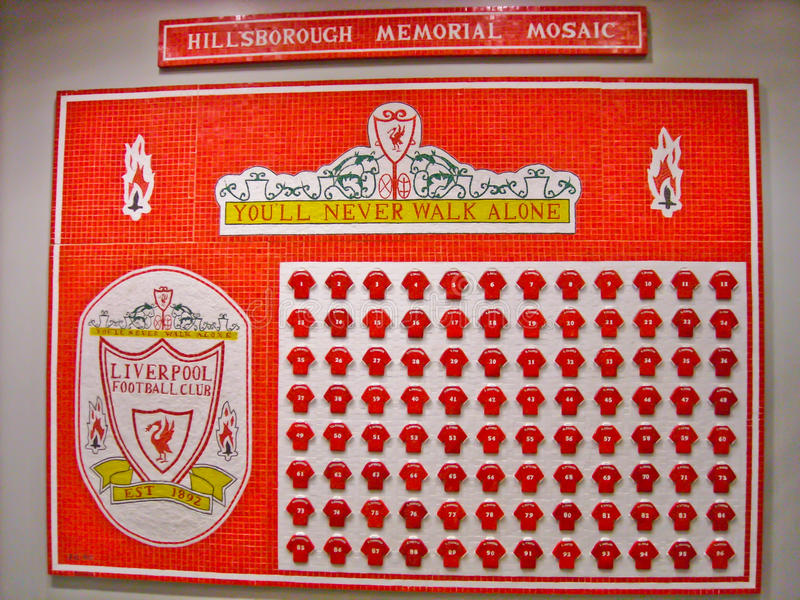 Hillsborough Memorial Mosaic stock photo