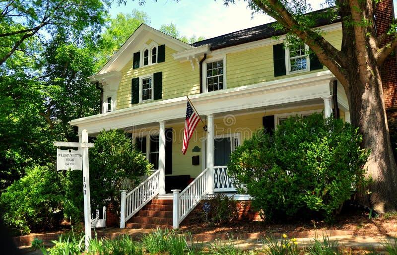 Hillsborough, NC: William Whitted House 1786 fotografia stock