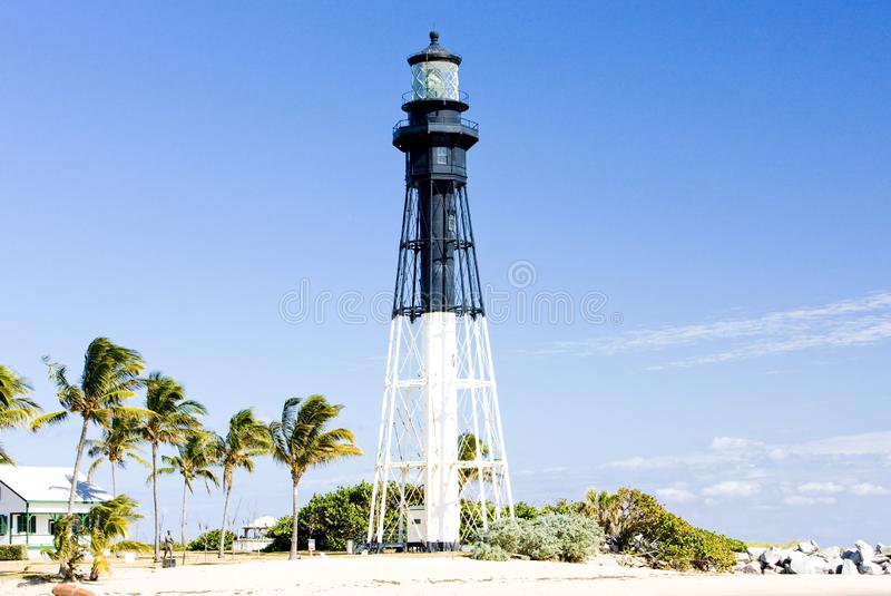 Hillsborovuurtoren, Pompano Strand, Florida, de V.S. royalty-vrije stock afbeeldingen