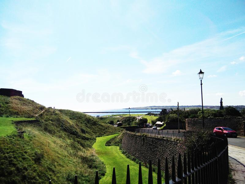Hillscape en Tynemouth imagen de archivo libre de regalías