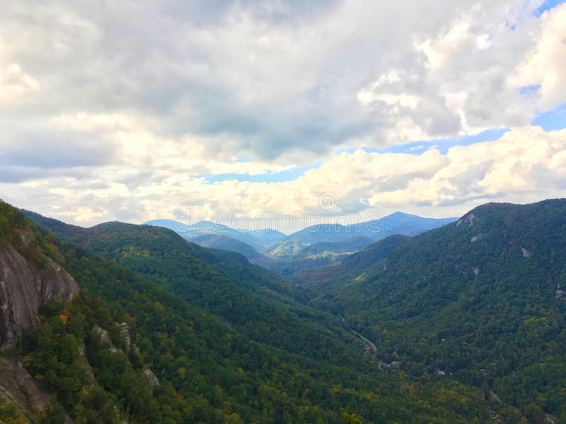 Hillside of Chimney Rock State Park, North Carolin royalty free stock photo