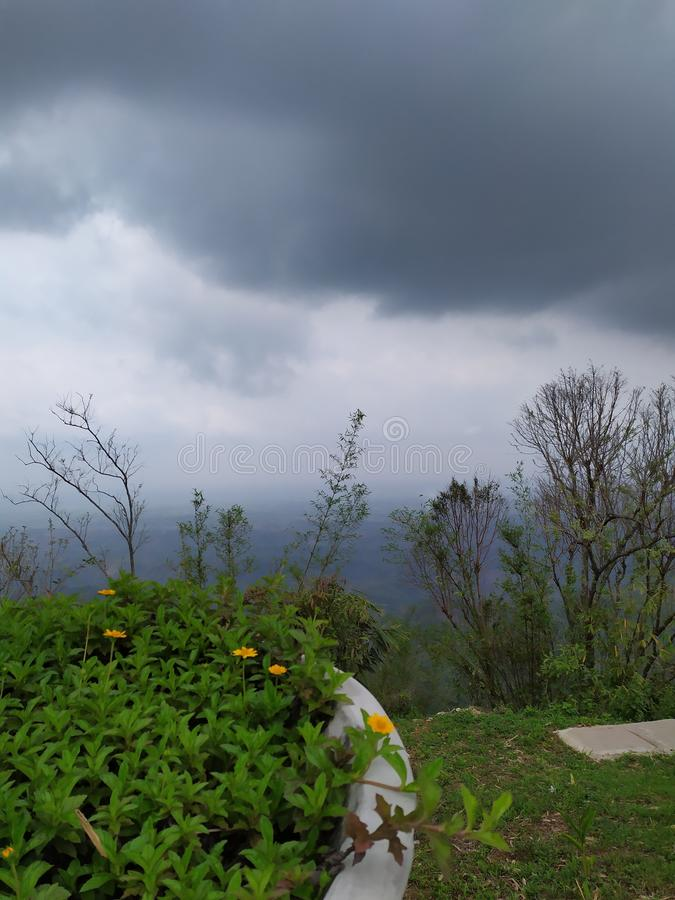 Hillside Cloudy Morning in Bangladesh. Hillside cloudy  in bangladesh, bandarban, weather stock images