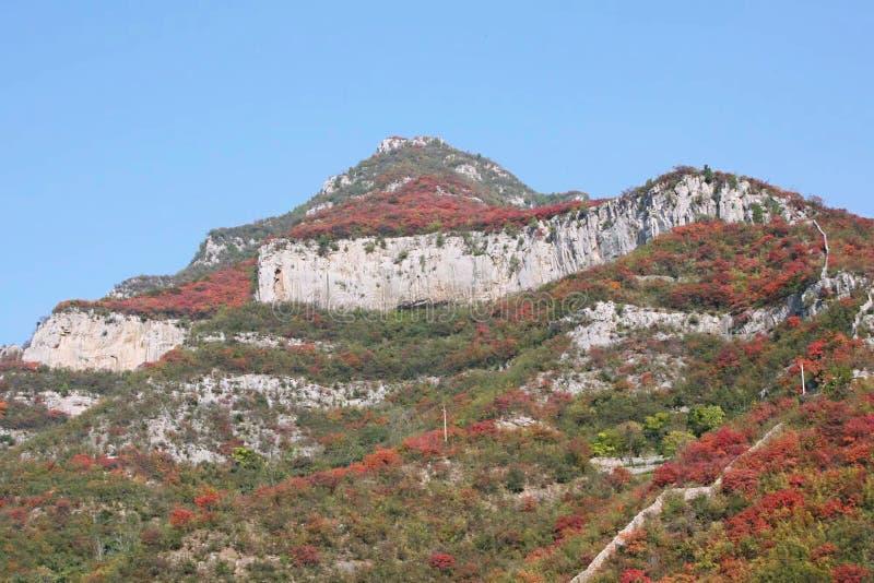 Hillside em Qingtianhe, Jiaozuo, Henan, China imagens de stock