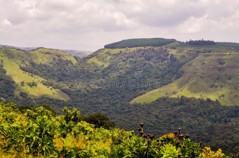 Drakensberg, Limpopo, South Africa. Hillside landscape of rural Limpopo, South Africa with cloudy skies royalty free stock photography
