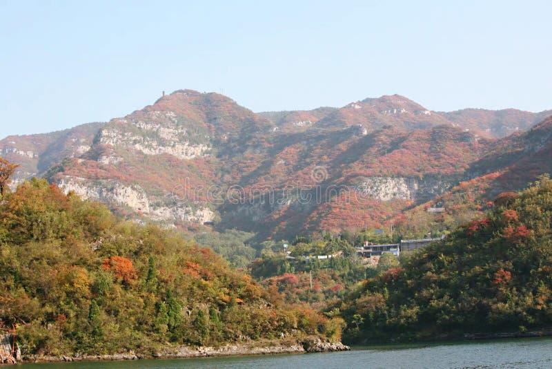 Hillside landschap in Qingtianhe, Jiaozuo, Henan, China stock foto's