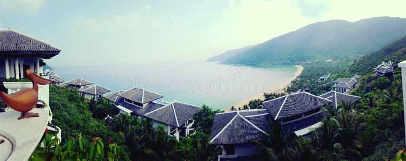 Resort on hillside in Da Nang, Vietnam royalty free stock photos