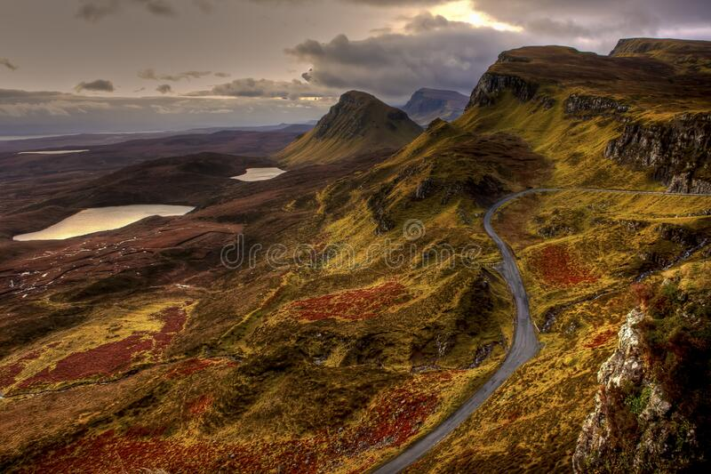 Hillside in Scotland royalty free stock image