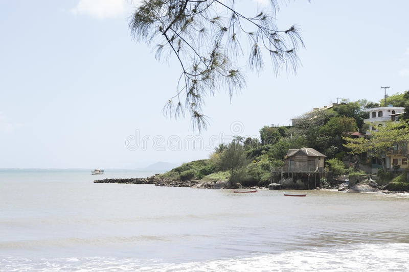 Hillside by the sea royalty free stock image