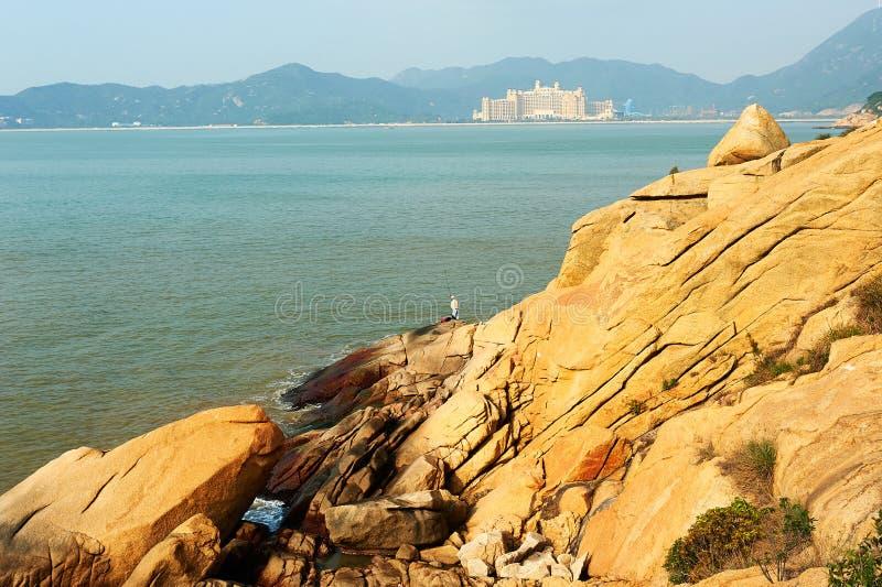 Hillstone i morze zdjęcia royalty free
