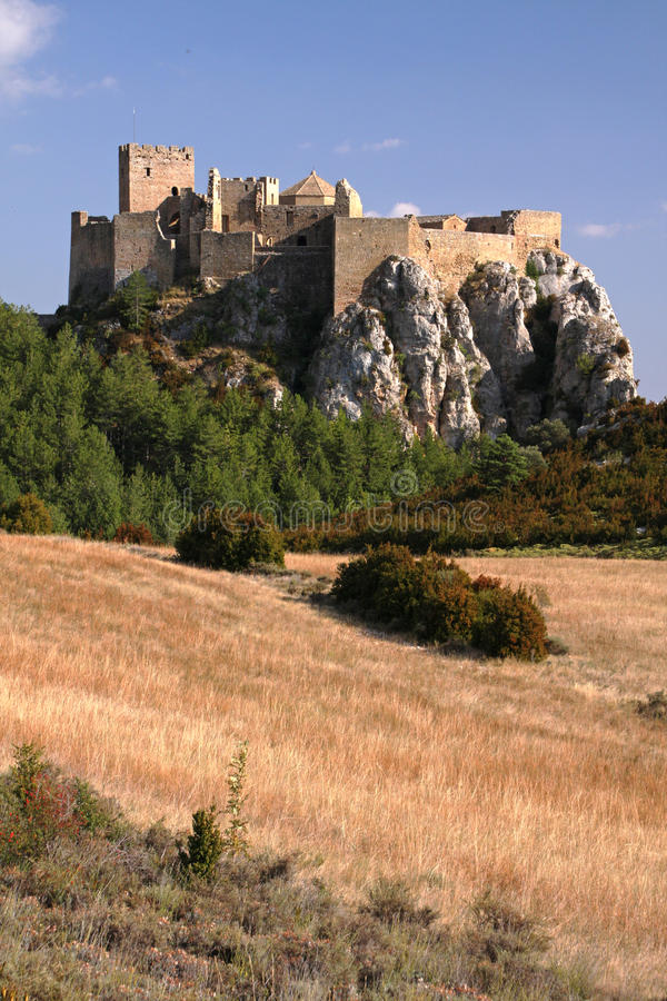 Hilltop castle royalty free stock photography
